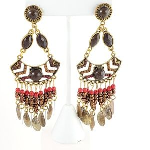 Boho Tribal Dangle Earrings